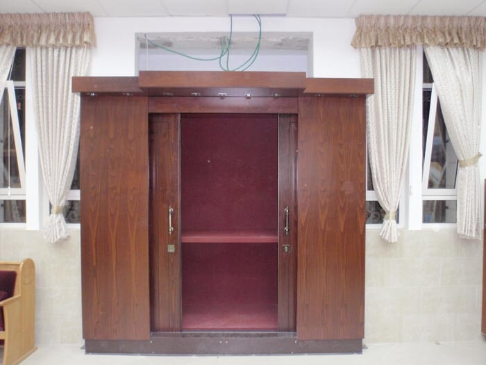 Holy Ark including wood paneling and internal safe
